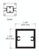 """CRL D990A16C Satin Anodized 16"""" Center Design Series Partition Post"""