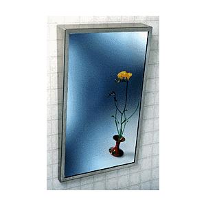 """CRL 9901824 Fixed """"Tilt"""" Stainless Steel Framed Mirror"""