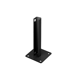 CRL PSB2ABL Black AWS Steel Stanchion for 90 Degree Round Corner Posts