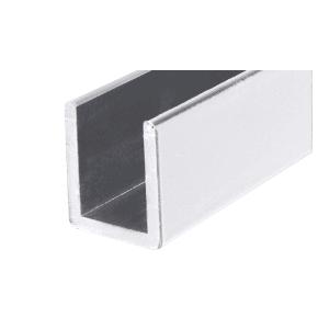 """CRL SDCD3812BA Brite Anodized Frameless Shower Door Aluminum Deep U-Channel for 3/8"""" Thick Glass - 144"""" Stock Length"""