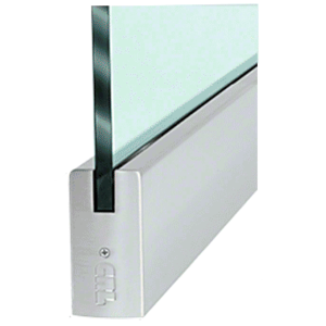 """CRL DR4SBS34S Brushed Stainless 3/4"""" Glass 4"""" Square Door Rail Without Lock - 35-3/4"""" Length"""