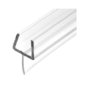"CRL P501BR One-Piece Bottom Rail With Clear Wipe for 3/8"" Glass"