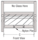 """CRL 701A Satin Anodized Vertical Sliding Ticket Window With 8-1/4"""" x 3-1/2"""" Opening"""