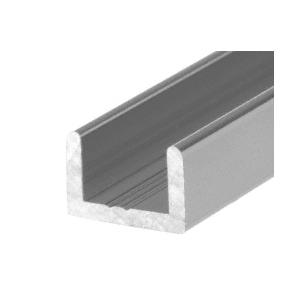 "CRL SDCR38BN Brushed Nickel Frameless Shower Door Aluminum Regular U-Channel for 3/8"" Thick Glass"