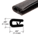 CRL 75341C Black 100' QuickEdge Mini Trim for 1/32""