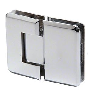 CRL P1N180CH Polished Chrome Pinnacle 180 Series 180 Degree Glass-to-Glass Standard Hinge
