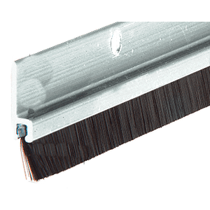 "72"" Extruded Aluminum and Nylon Brush Door 11/32"" Bristle Weatherstrip"