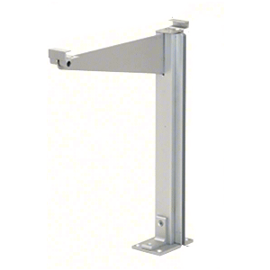 "CRL D995ARH0E Satin Anodized 18"" High Right Hand Open End Design Series Partition Post with 12"" Deep Top Shelf"