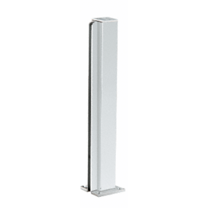 "Satin Anodized 18"" End Design Series Partition Post"