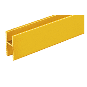 CRL D610GA Gold Anodized Aluminum 'H' Bar for Use on All CRL Track Assemblies
