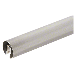 "CRL GR25BS Brushed Stainless 2-1/2"" Premium Cap Rail for 1/2"" Glass - 120"""