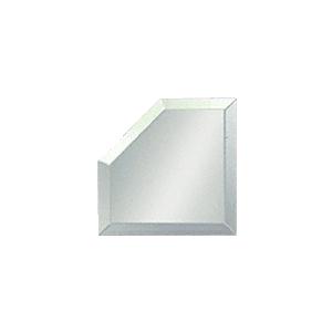 "CRL BM4M4 Clear Mirror Glass 4"" Mitered Corner Beveled on All 5 Sides"
