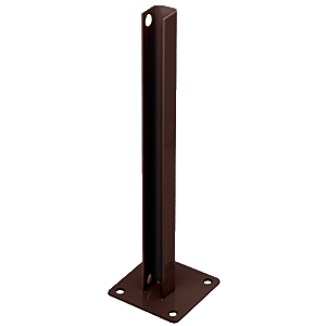 CRL PSB1BBRZ Matte Bronze AWS Steel Stanchion for 180 Degree Round or Rectangular Center or End Posts