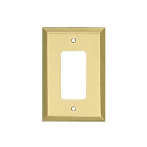 CRL MMP12BR Brass Single Designer Metal Mirror Plate