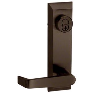 Dark Bronze 1600 Series Prepped Lever Trim for 1900 Rim Panic Devices