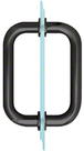 "CRL BM6X6MBL Matte Black 6"" BM Series Tubular Back-to-Back Pull Handle"