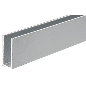 "CRL D623A Satin Anodized 1/4"" Single Channel with 1"" High Wall"
