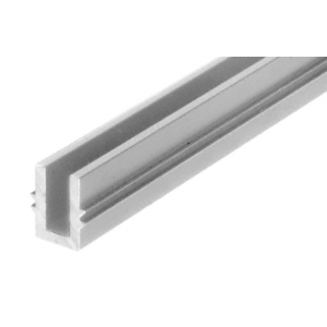 """CRL 0TBR240SA Satin Anodized 240"""" Length Bottom Guide Channel for OT Series Top Hung Sliders and Bi-Fold Doors"""