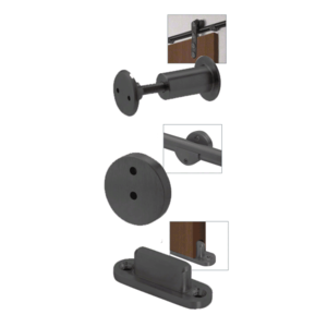 CRL LSWMADTMBL Matte Black Laguna Sliding Door Hardware Adaptor Kit for Wood Doors