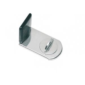 CRL SLGT14 Stainless Steel SlideGuard Thumbturn Door Lock for Glass, Metal and Plexi