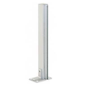 "CRL D992A36LH0E Satin Anodized 36"" Left Hand Open End Standard Partition Post"