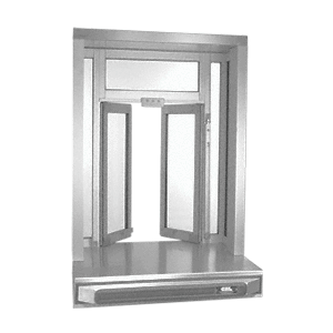 CRL SCBFW2A Satin Anodized Self-Closing Projected Bi-Fold Service Window