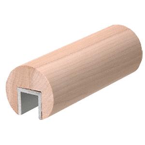 "CRL WCR307PL Poplar 3"" Diameter Wood Cap Rail- 3/4"" Glass"