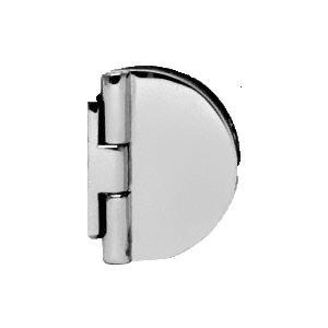 CRL EH184 Polished Chrome Half Round Light Duty Frameless Shower Door Hinge