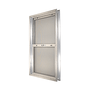 "CRL BAP248 Satin Anodized 18-3/4"" x 30-1/8"" Bel-Air ""Plaza"" Combination Door Unit with Clear Tempered Glass and Mill Frame for 1-3/8"" 2-4 Slab Door"
