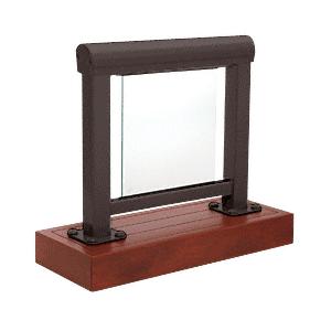 CRL ARS3SBRZ Matte Bronze 300 Series Aluminum Glass Railing System Small Showroom Display