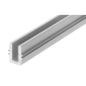 "Satin Anodized 120"" Length Bottom Guide Channel for OT Series Top Hung Sliders and Bi-Fold Doors"