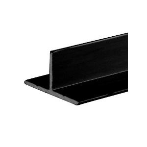 CRL D608BL Flat Black T- Bar Aluminum Channel