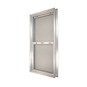"CRL BAP204 Satin Anodized 14-3/4"" x 30-1/8"" Bel-Air ""Plaza"" Combination Door Unit with Clear Tempered Glass and Mill Frame for 1-3/4"" 2-0 Slab Door"