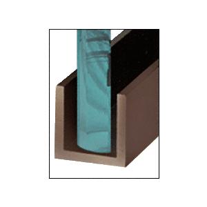 "CRL WU3DUSL Black Bronze Anodized Wet Glaze 1"" Deep U-Channel 120"" Stock Length"