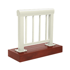 CRL ARS3PS0W Oyster White 300 Series Aluminum Picket Railing System Small Showroom Display