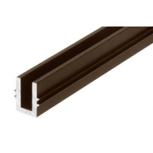 "CRL 0TBR120DU Black Bronze Anodized 120"" Length Bottom Guide Channel for OT Series Top Hung Sliders and Bi-Fold Doors"