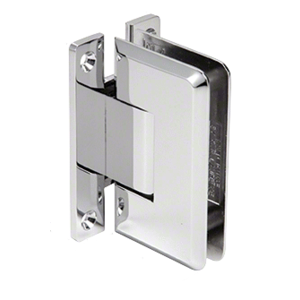 CRL BWM1CH Chrome International Series Wall Mount Full Back Plate Beveled Edge Hinge