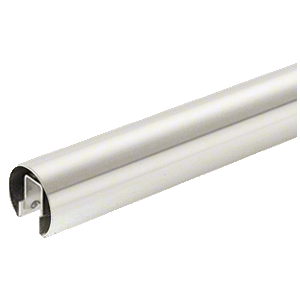 "CRL GR20PS 304 Grade Polished Stainless 2"" Premium Cap Rail for 1/2"" or 5/8"" Glass - 120"""
