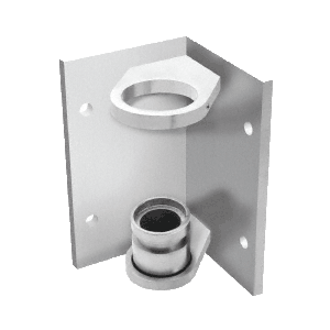 "CRL CR151FBBS Brushed Stainless 1-1/2"" CRS Inside Corner Fascia Mount Bracket"