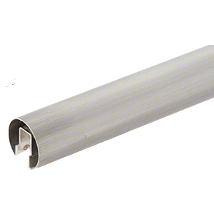 "CRL GR20BS 304 Grade Brushed Stainless 2"" GRS Premium Cap Rail for 1/2"" or 5/8"" Glass - 120"""