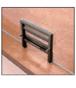 "CRL 702DU Dark Bronze Vertical Sliding Ticket Window with 18"" x 3-1/2"" Opening"