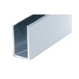 "CRL DV750A Satin Anodized 1/2"" Aluminum U-Channel"