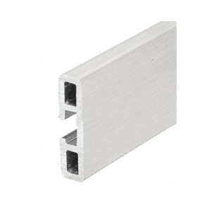 """Extruded Aluminum Wall Protector Rail - Brushed Stainless Anodized 146"""" Stock Length"""