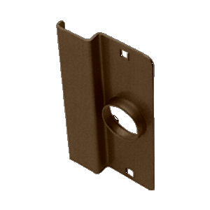 "CRL 8852DU Dark Bronze 6-1/2"" Heavy Gauge Steel Latch Guard for Narrow Stile Flush Doors"