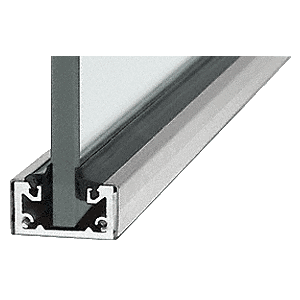 "CRL SCBS3812SL Brushed Stainless 120"" Shallow U-Channel"