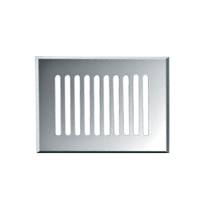 "CRL GMG814C Clear Mirror 8"" x 14"" Glass Mirror Grille"