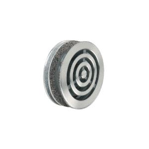 "CRL N666 Brushed Stainless Steel 6"" Round Level 3 Bullet Resistant Speak-Thru"