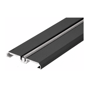 CRL SD1BTBL Black Powder Coat Sliding Door Bottom Rolling Track
