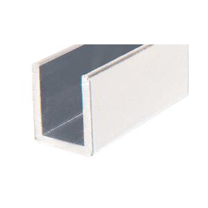 """CRL SDCD3812A Satin Anodized Frameless Shower Door Aluminum Deep U-Channel for 3/8"""" Thick Glass - 144"""""""