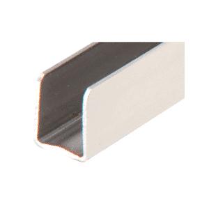 "CRL SAC38PS Polished Stainless 3/8"" Radiused Back Steel U-Channel - 144"""